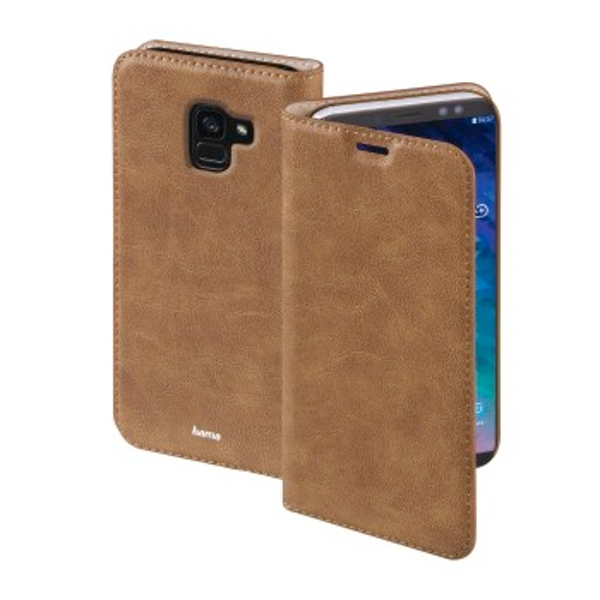 """Hama """"Guard Case"""" Booklet for Samsung Galaxy A6 (2018), brown"""