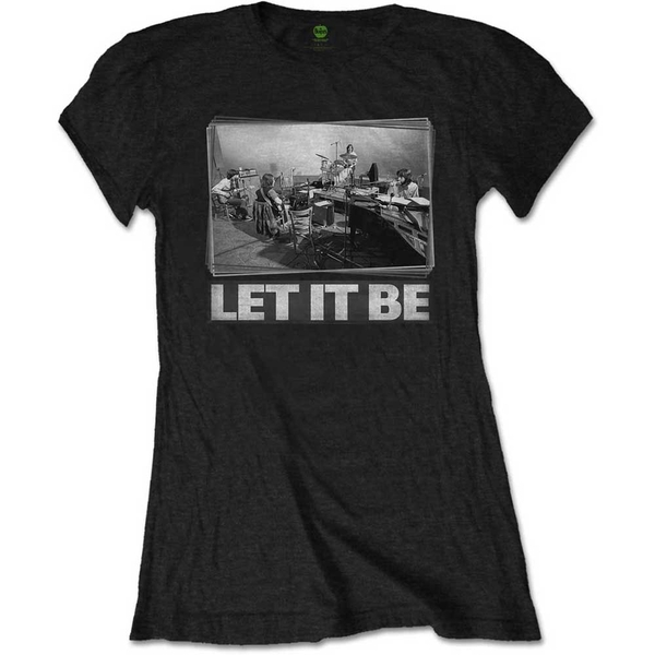 The Beatles - Let It Be Studio Women's Small T-Shirt - Black