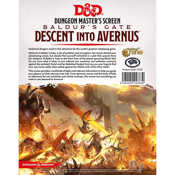 Dungeons & Dragons DM Screen - Descent into Avernus