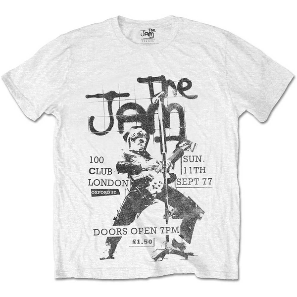 The Jam - 100 Club 77 Unisex Small T-Shirt - White