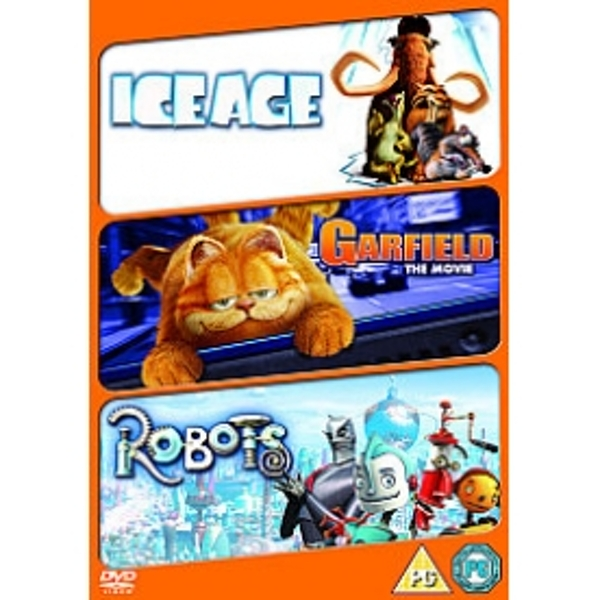 Robots / Ice Age / Garfield The Movie DVD