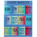 Set Of 48 Assorted Gym Magnets with Display