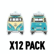 Pina Colada/Turquoise W T1 Bus  (Pack Of 12) Air Freshener