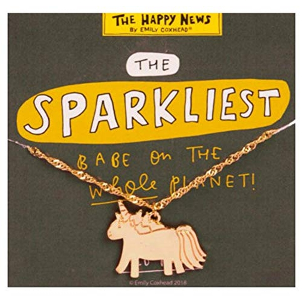 Gold Look Necklace - Sparkliest Unicorn Babe (Pack of 4)