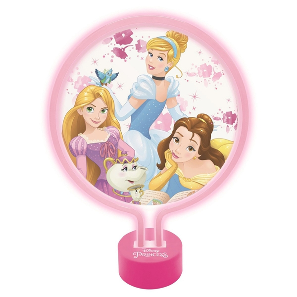 Lexibook LTP100DP Disney Princess Neon Lamp