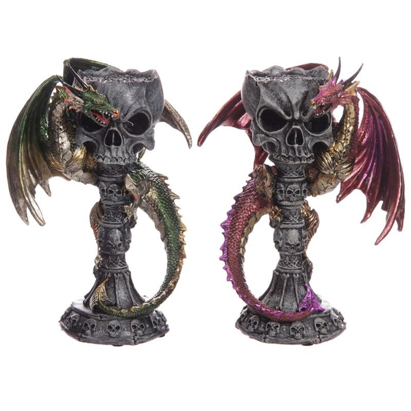 Skull Goblet Dark Legends Dragon Figurine (1 Random Supplied)