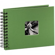 Fine Art Spiralbound Album 24x17cm 50 black pages (Apple-green)