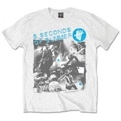 5 Seconds of Summer Live Collage Mens White T Shirt X-Large