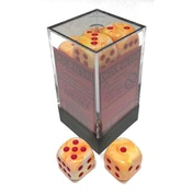 Chessex 16mm D6 Dice Block: Festive Sunburst with Red