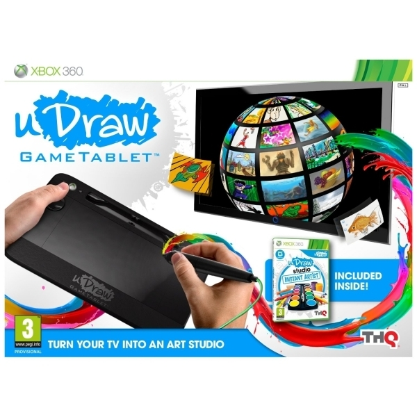 Ex-Display uDraw Tablet Includes uDraw Studio Instant Artist Xbox 360 Used - Like New