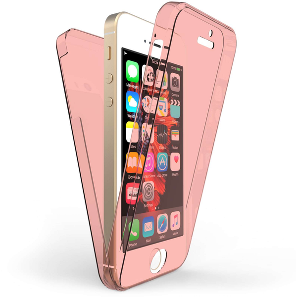 Compare prices with Phone Retailers Comaprison to buy a Apple iPhone 5 / 5S / SE Full Body 360 TPU Gel Case - Rose Gold