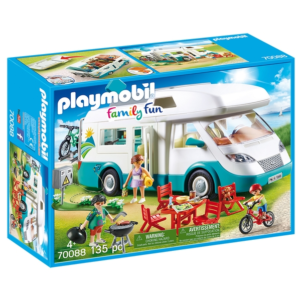 Playmobil Family Fun Toy Camper Van with Furniture