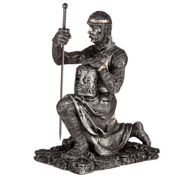 Collectable Kneeling Knight Figurine