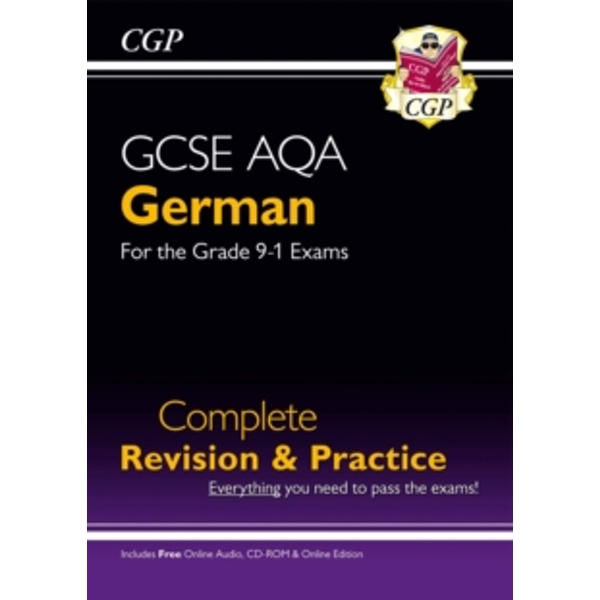 New GCSE German AQA Complete Revision & Practice (with CD & Online Edition) - Grade 9-1 Course by CGP Books (Paperback, 2017)