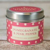 Pomegranate & Pink Pepper (Superstars Collection) Tin Candle