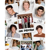 One Direction Polaroids Mini Poster