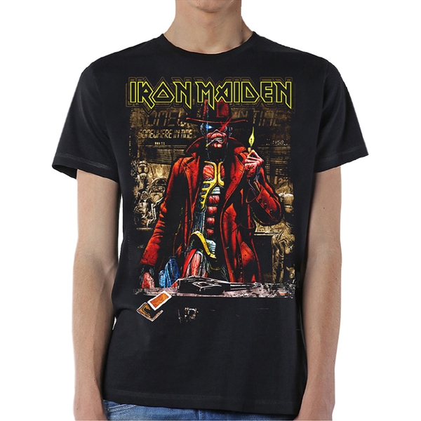 Iron Maiden - Stranger Sepia Unisex Medium T-Shirt - Black