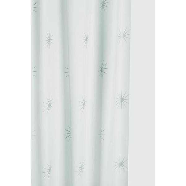 Croydex Textile Shower Curtain Stellar