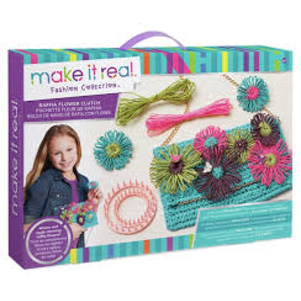 Make It Real - Raffia Flower Clutch Making Kit