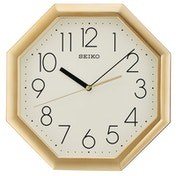 Seiko QXA668G Octagon Wall Clock - Gold