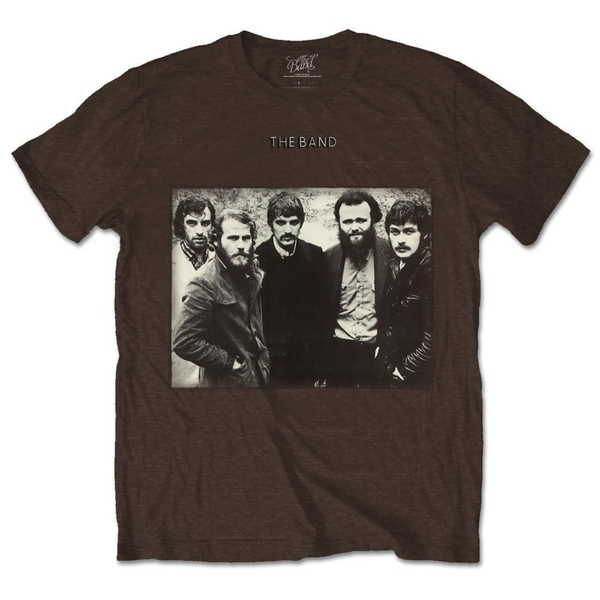 The Band - Group Photo Unisex Large T-Shirt - Brown