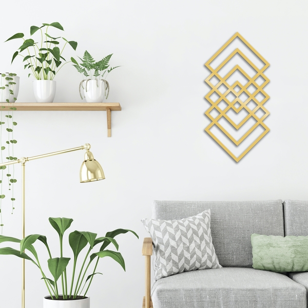 Geometry - Gold Gold Decorative Metal Wall Accessory