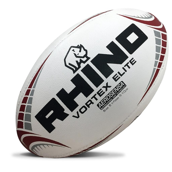 Rhino Vortex Elite Replica Rugby Ball White Midi (Size 2)