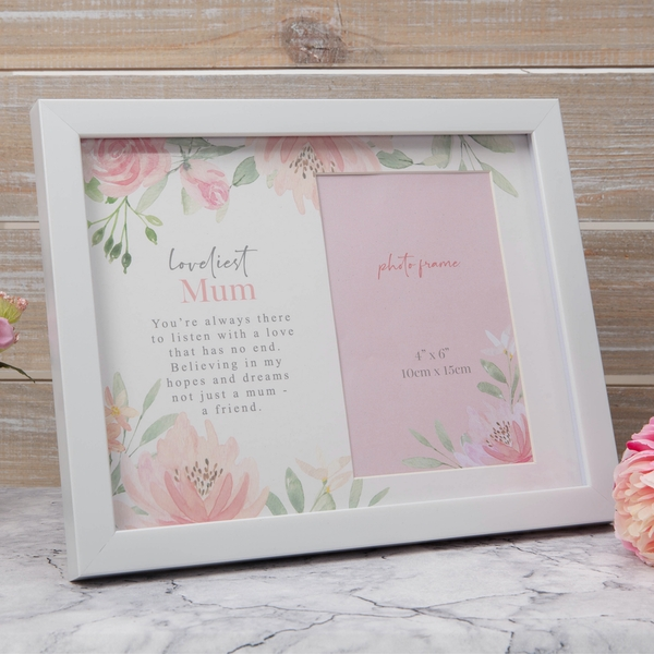 Loveliest Mum Floral Photo Frame - Image 1