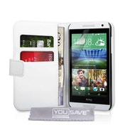 YouSave HTC Desire 610 Leather Effect Wallet Case - White