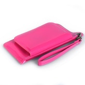 Caseflex iPhone 6 / 6s Leather Effect Gloss Purse - Hot Pink