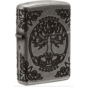 Zippo Unisex's Tree of Life Armor Antique Silver Windproof Lighter