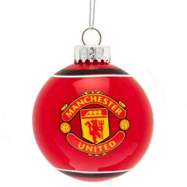 Manchester United FC Glass Bauble