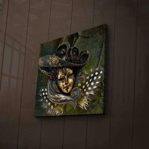 2828?ACT-34 Multicolor Decorative Led Lighted Canvas Painting