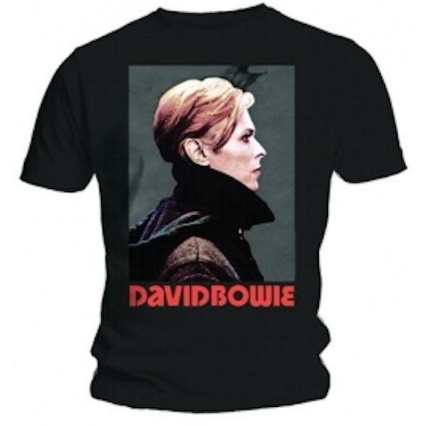 David Bowie Low Portrait Mens Black T Shirt: X-Large