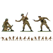 Airfix WWII British Infantry Vintage Classics Figures 1:32 Scale Model Kit