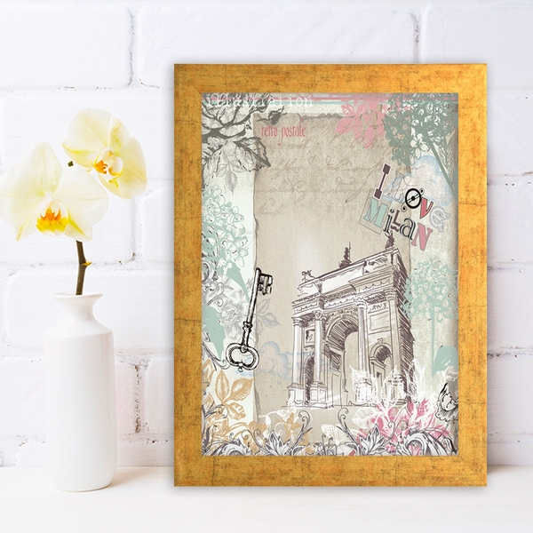AC220096252 Multicolor Decorative Framed MDF Painting