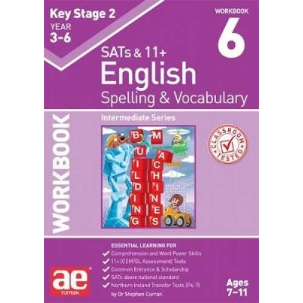 KS2 Spelling & Vocabulary Workbook 6 Intermediate Level Paperback / softback 2018