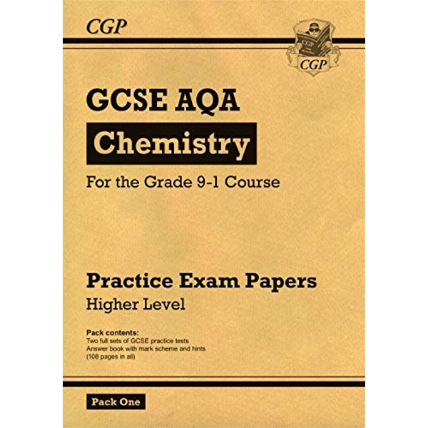 New Grade 9-1 GCSE Chemistry AQA Practice Papers: Higher Pack 1 by CGP Books (Paperback, 2017)