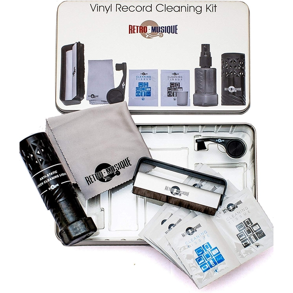 Retro Musique Vinyl Record Tin Cleaning Set