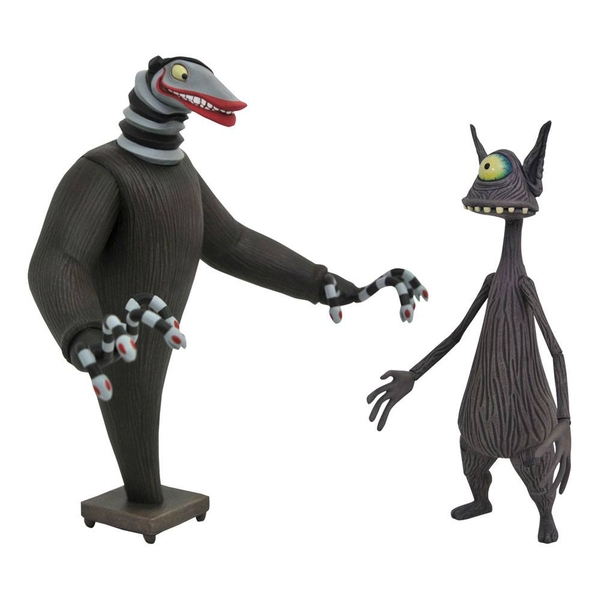 Nightmare before Christmas Action Figures 2-Pack Creature under the Stairs & Cyclops 18 cm