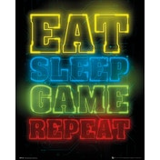 Gaming Eat Sleep Game Repeat Mini Poster