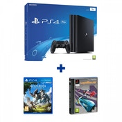 PlayStation 4 Pro (1TB) Black Console + Horizon + Wipeout Bundle