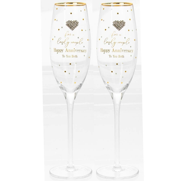 Mad Dots Anniversary Flutes By Lesser & Pavey