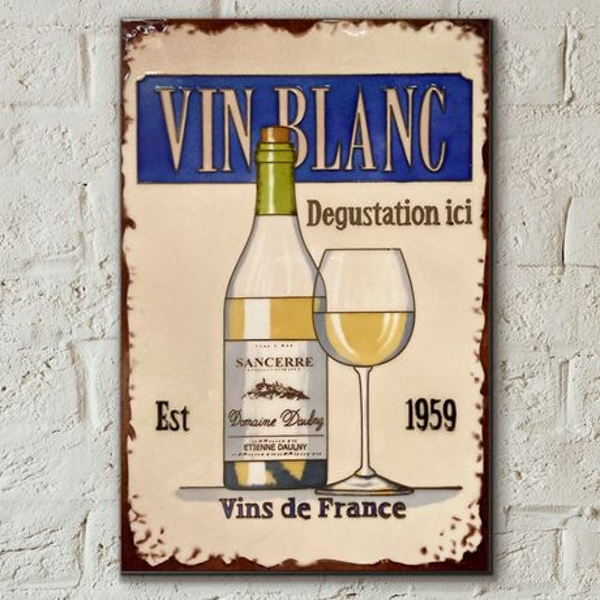 Tile 8x12 Vin Blanc By Martin Wiscombe Wall Art