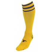 PT 3 Stripe Pro Football Socks Boys Yellow/Royal