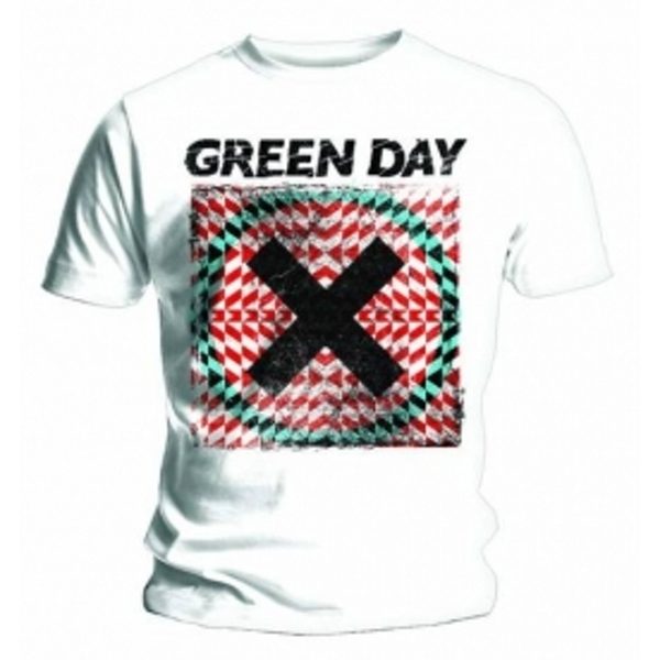 Green Day Xllusion Mens White T Shirt: X Large
