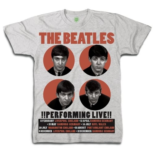 The Beatles - 1962 Performing Live Unisex X-Large T-Shirt - Grey