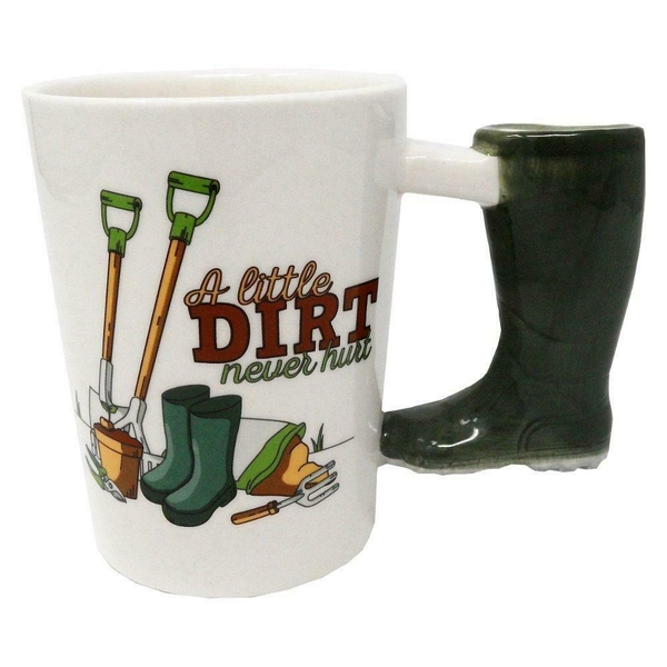 Garden Wellington Shaped Handle Ceramic Mug