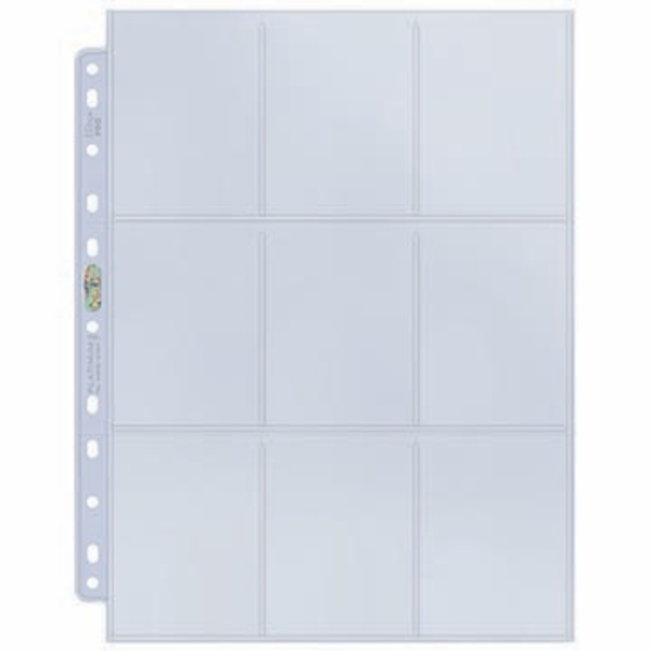 Ultra Pro Platinum 9-Pocket 11-Hole Pages (Box of 100) - Image 2