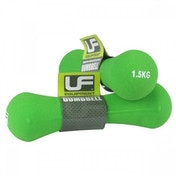 UFE Bone Dumbbells Neoprene Covered 1.5kg Green